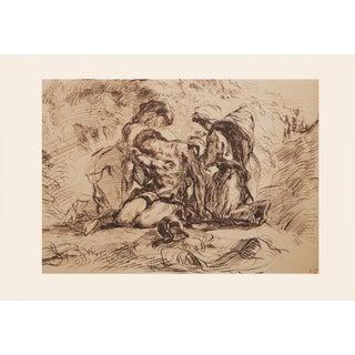 """1959 Eugene Delacroix """"St. Sebastian"""" Large Vintage Lithograph For Sale"""