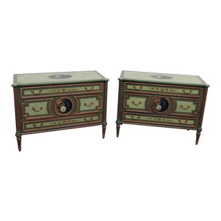 Maitland Smith Louis XVI Style Commodes - a Pair For Sale