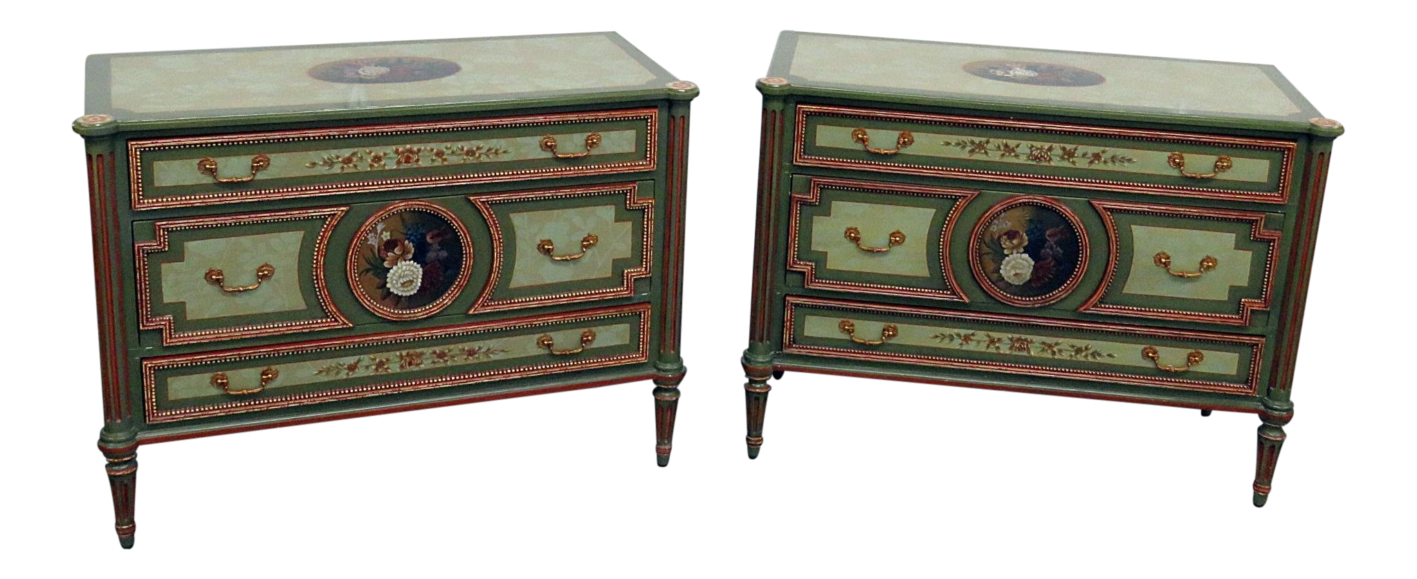 Maitland Smith Louis XVI Style Commodes   A Pair For Sale