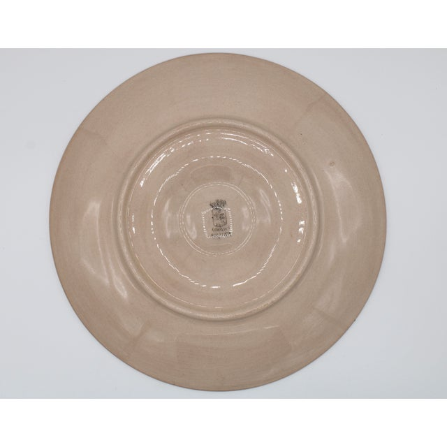 Pink Vintage French Country Peach / Pink Ceramic Oyster Plate For Sale - Image 8 of 11