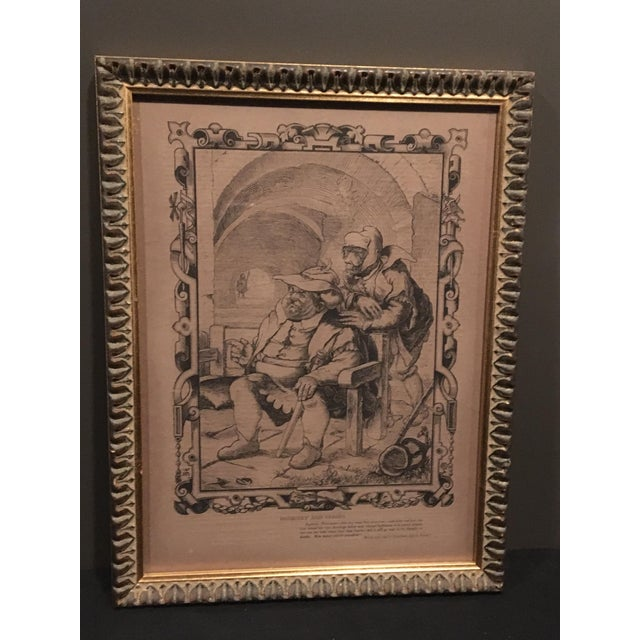 """Antique English wood engraving of Dogberry and Verges from """"Much Ado About Nothing."""" Engraved by William Luson Thomas, Sc...."""