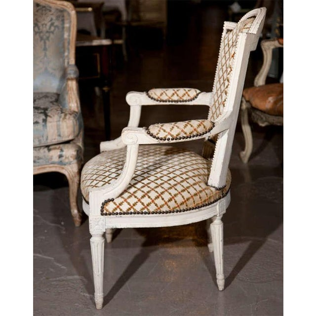 French Louis XIV Style Arm Chairs - Pair For Sale - Image 5 of 8