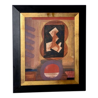 Mid Century Erle Loran Abstract Oil Painting For Sale