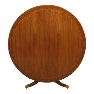 English Round Walnut Tilt Top Card or Dining Table For Sale