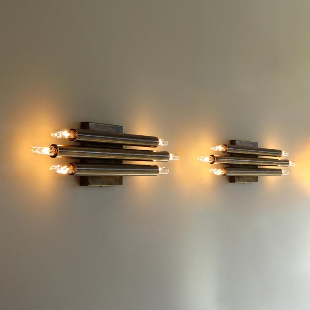 'Trinus' Wall Lights by Gallery L7 - a Pair For Sale - Image 9 of 11