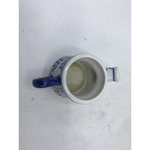 1980s Blue and White Porcelain Miniature Watering Can Sculpture For Sale - Image 5 of 7