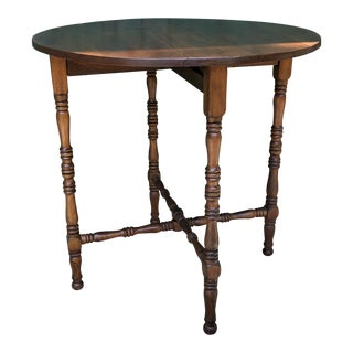 Antique George III Walnut Drop Leaf Table For Sale