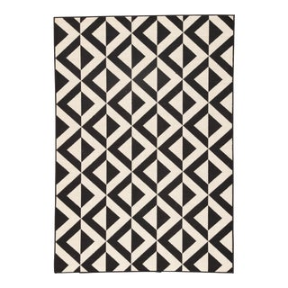 """Jaipur Living Marquise Indoor/ Outdoor Geometric Black/ White Area Rug - 9'6"""" X 13' For Sale"""