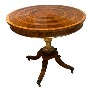 1970s American Classical Round Pedestal Table For Sale