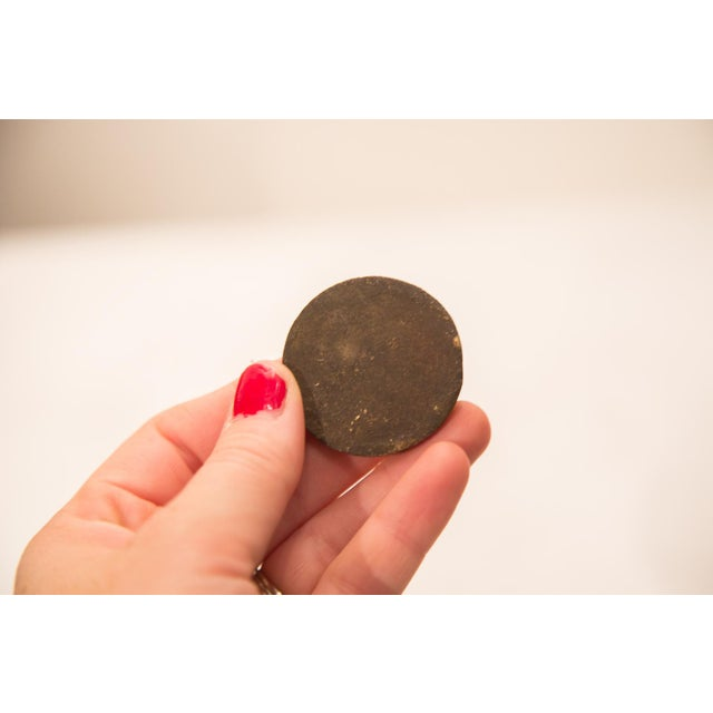 Vintage Heavy Bronze Oversize African Coin Gold Weight For Sale - Image 4 of 4
