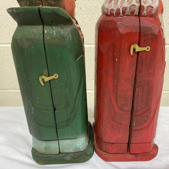 1970s Mediterranean Style Carved Wood Wine Bottle Holders For Sale - Image 5 of 10
