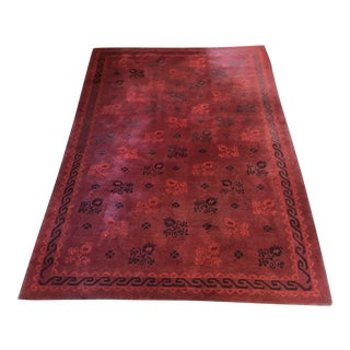 "Red Stephanie Odegard ""Italian Flower"" Rug - 6′3″ × 8′8″ For Sale"