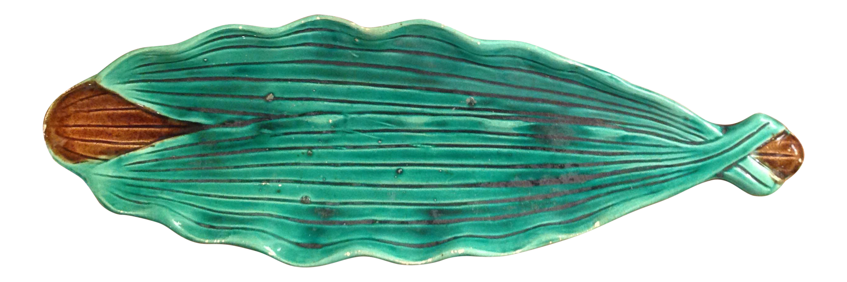 Majolica Leaf Relish Dish  sc 1 st  Chairish : country decorative plates - pezcame.com