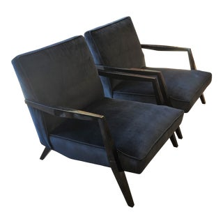 Ponti Era Fireside Low Slipper Chairs - A Pair For Sale