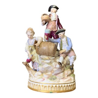 Early 19th Century Meissen Porcelain Figural Group For Sale