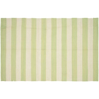 "Striped Egyptian Kilim Rug - 3'11"" X 6'"