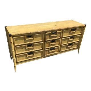 Stanley Faux Bamboo Dresser