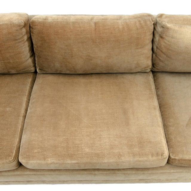 Burlwood Milo Baughman Style Burl Wood Sofa For Sale - Image 7 of 11