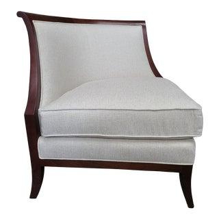 Thomasville Furniture Cream Corner Chiar Finished in Mahogany For Sale