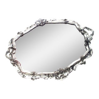 French Victorian Silver Plate Tray For Sale