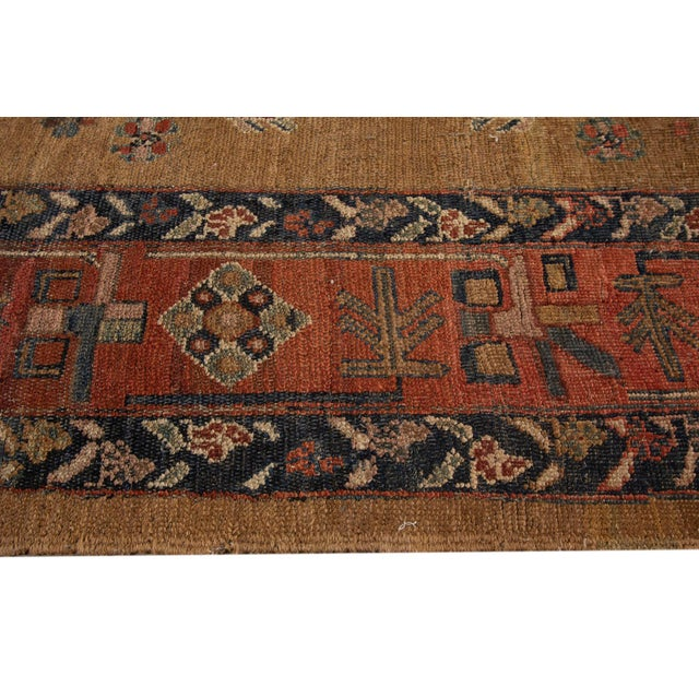 "Vintage Persian Tribal Bakshaish Rug, 8'0"" X 9'6"" For Sale - Image 4 of 12"