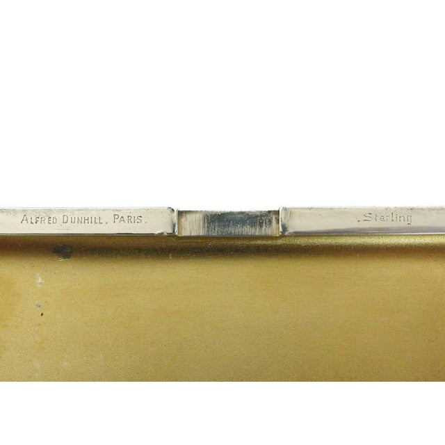 Metal Alfred Dunhill Sterling Silver Cigarette Case, Circa 1930 For Sale - Image 7 of 7