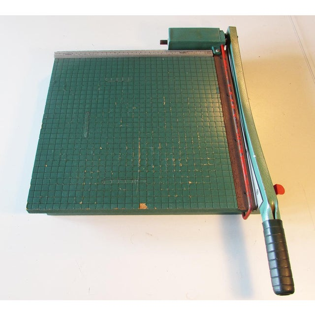 Industrial Vintage Guillotine Paper Cutter For Sale - Image 3 of 4
