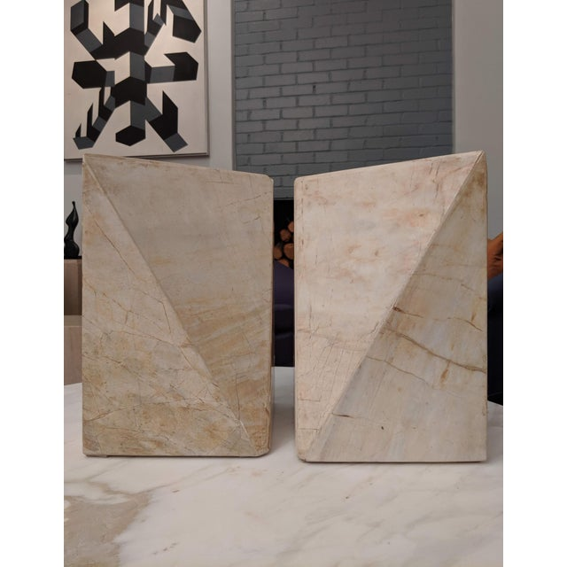 Donald Judd Geometric Marble Sculptures, a Pair For Sale - Image 4 of 9