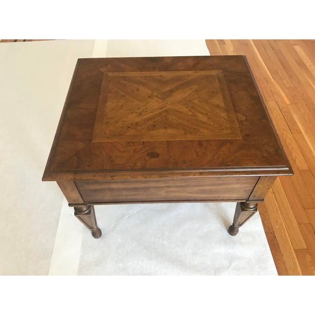 Heritage Furniture Italian side table. Made in the 1970s. Has original patina. From Heritage. Made in the USA.