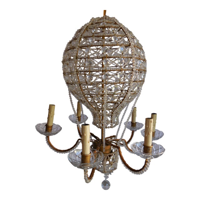 Mid century hot air balloon chandelier chairish mid century hot air balloon chandelier mozeypictures Images