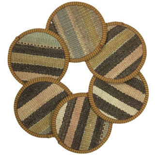 Kilim Coasters Set of 6 | Ağa For Sale