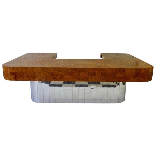 Paul Evans for Directional Burl Top City Scape Desk For Sale - Image 9 of 9