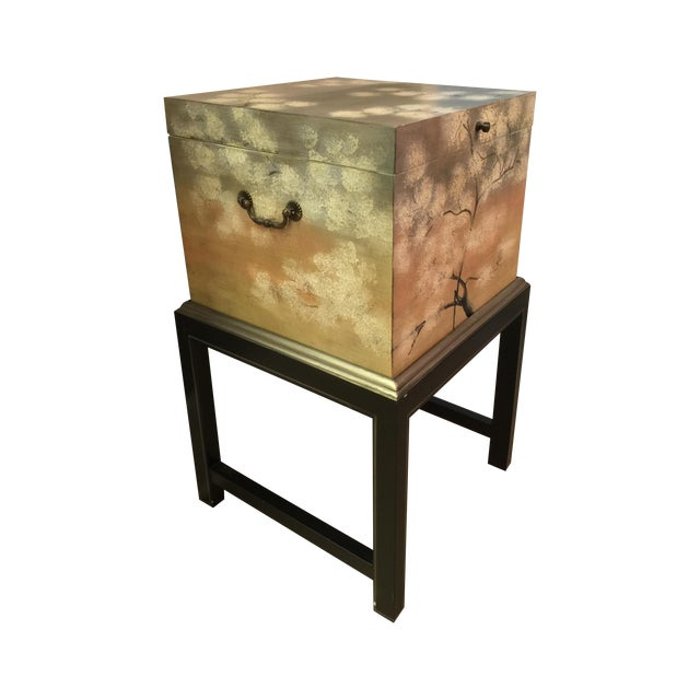 Horchow Painted File Box - Image 1 of 7