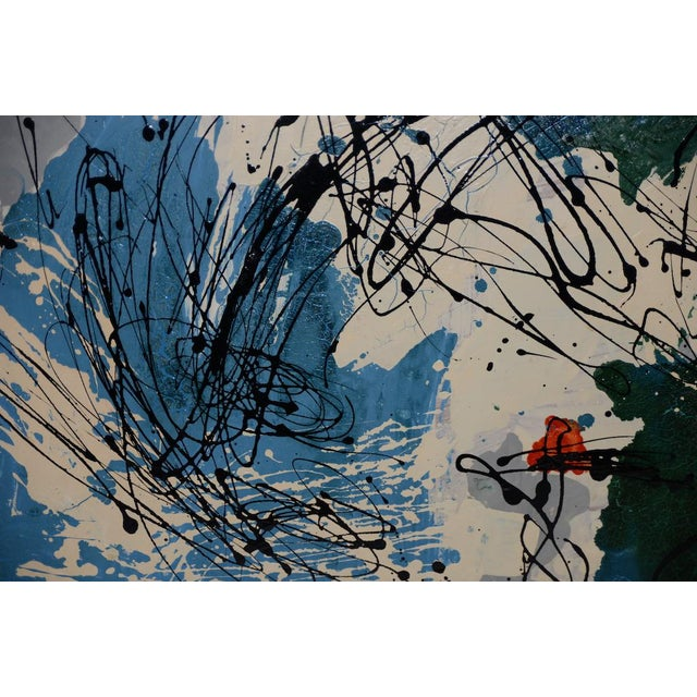 Abstract Expressionist Oil Painting by Van Winkle C.1950s For Sale - Image 9 of 12