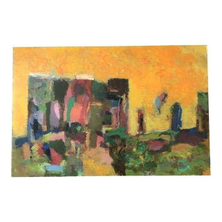 Original Vintage 1970's Abstract Painting For Sale