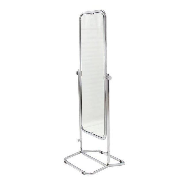 1950s Vintage Mid-Century Modern Cheval Mirror For Sale - Image 9 of 10