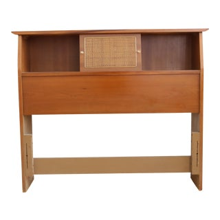 Paul McCobb Style Mid Century Modern Danish Twin Bed Headboard For Sale