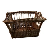 Image of Vintage French Wicker Boulangerie Bakery Bread Basket For Sale