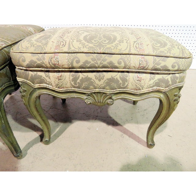 French Pair of Louis XV Style Benches For Sale - Image 3 of 6