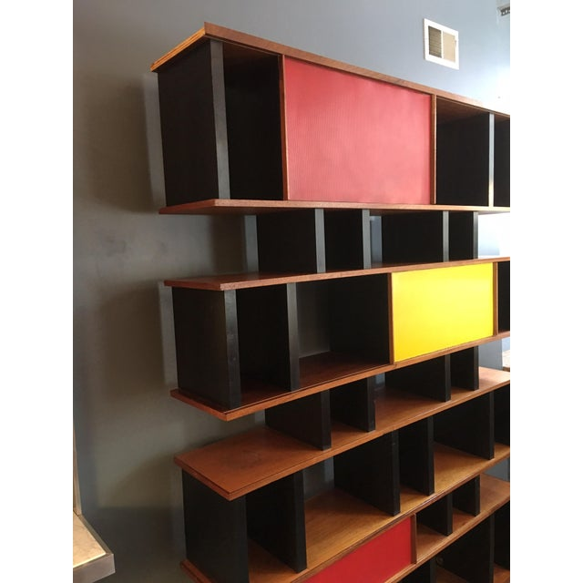 Wood Charlotte Perriand and Jean Prouve Style Shelving System For Sale - Image 7 of 13