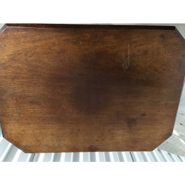 Antique Lift-Top Side Table For Sale - Image 7 of 8