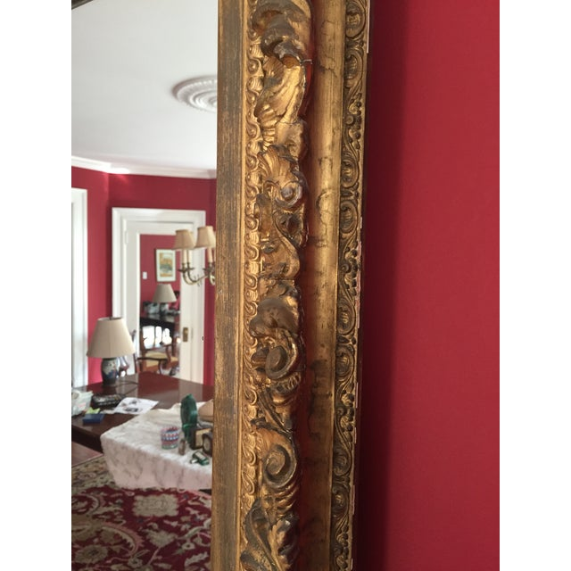 19th Century Grand Carved Gesso Frame Mirror - Image 5 of 5