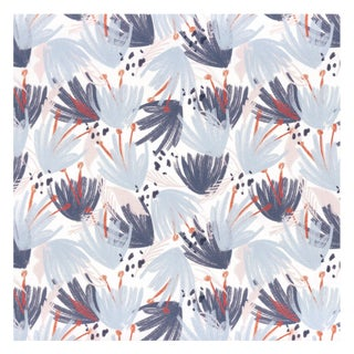 Pepper Eden Blue Wallpaper - 15 yards For Sale
