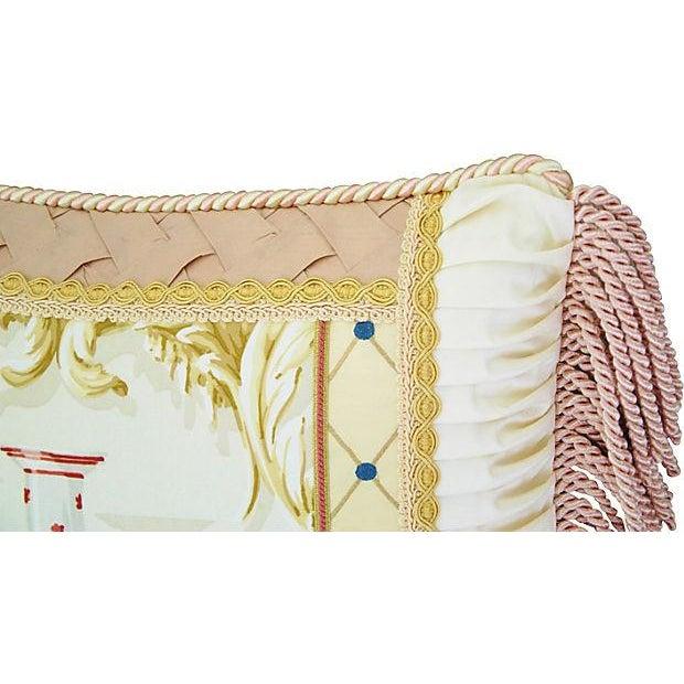 Designer Schumacher Chinese Vase & Silk Pillow - Image 3 of 6