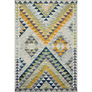 "Justina Blakeney X Loloi Rugs Hallu Rug, Spa / Gold - 2'3""x3'9"" For Sale"