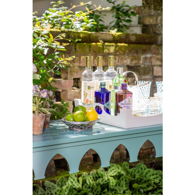American Oomph Ocean Drive Outdoor Console Tray, Green For Sale - Image 3 of 8