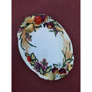 1960s Majolica Fruit and Wheat Platter Preview