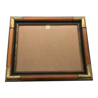 Mid Century Modern Campaign Style Frame 11x14 For Sale