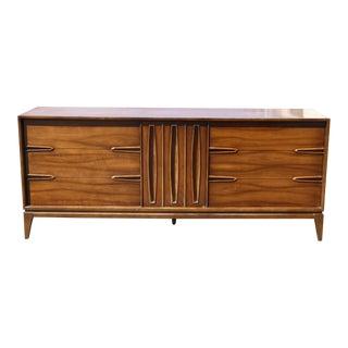 Vintage Mid-Century Modern Sculptured Triple Dresser