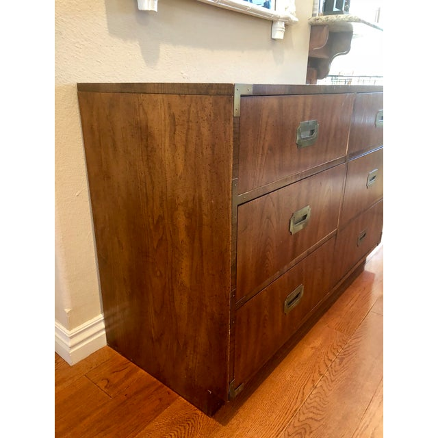Dixie Campaigner Six Drawer Dresser For Sale - Image 6 of 9